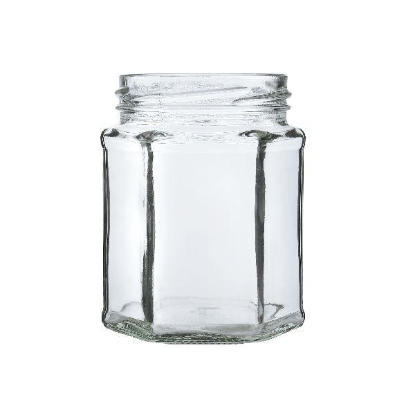 250gm Hexagon Glass Jar
