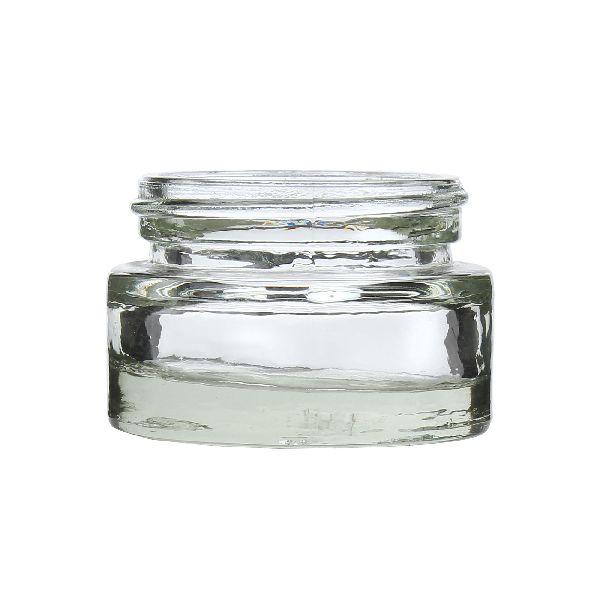 25gm Cream Glass Jar