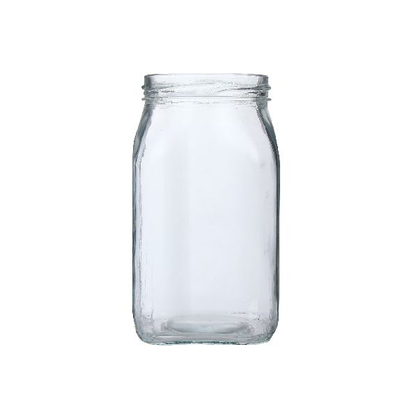 500gm Honey Square Glass Jar