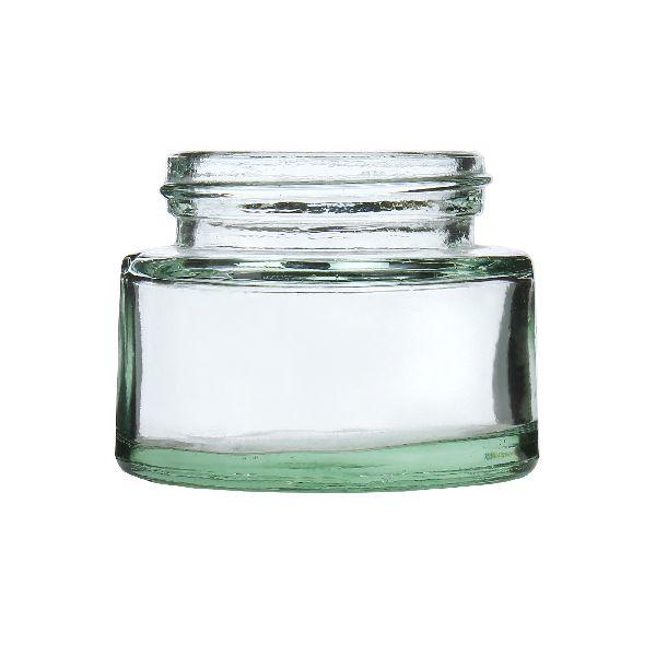 50gm Cream Glass Jar