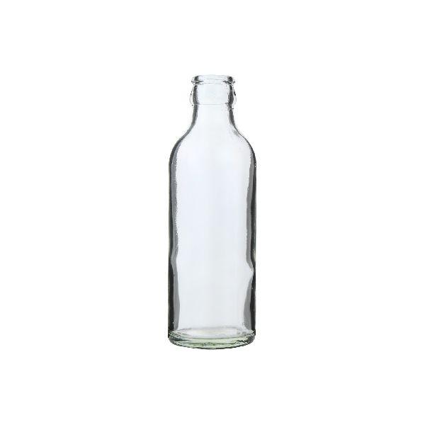 Crown Milk Glass Bottle