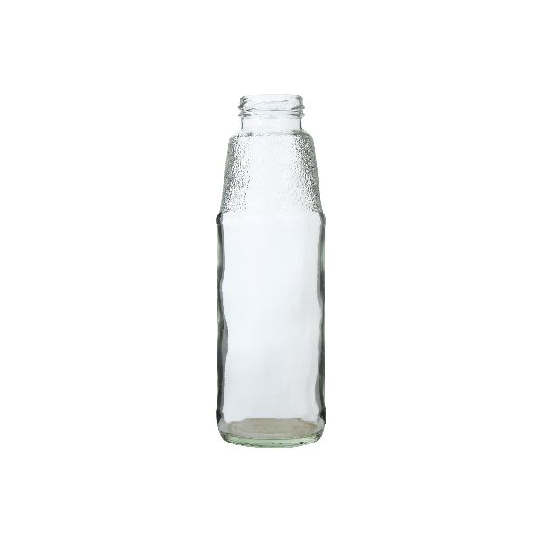 Frosted Neck Milk and Juice Glass Bottle