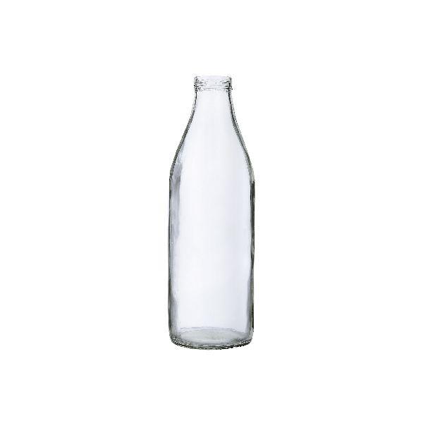 Milk Round Glass Bottle