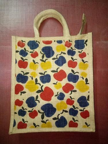 Apple Printed Jute Bags