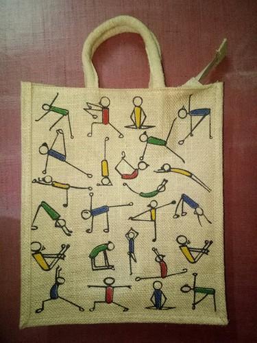 Yoga Printed Jute Bags