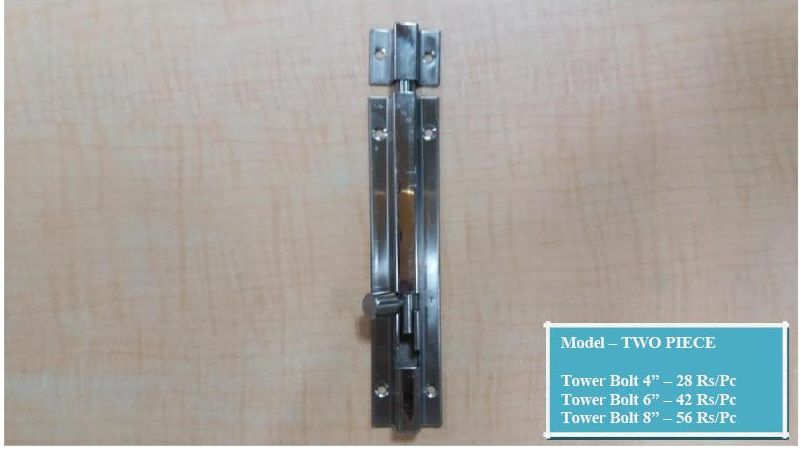 Two Piece Tower Bolt