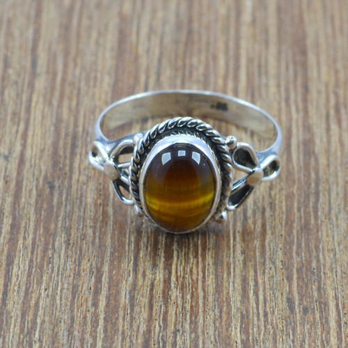 92.5 Sterling Silver Gemstone Ring