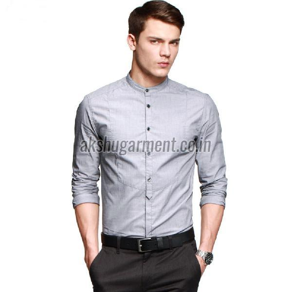 Mens Round Collar Shirt