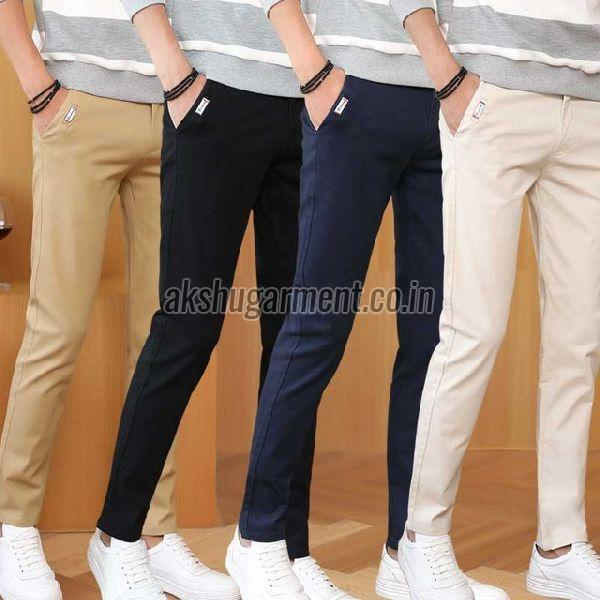 Straight Fit Cotton Trouser