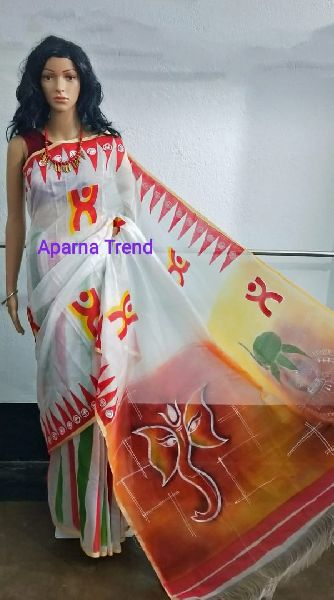 Hand Painted Silk Saree