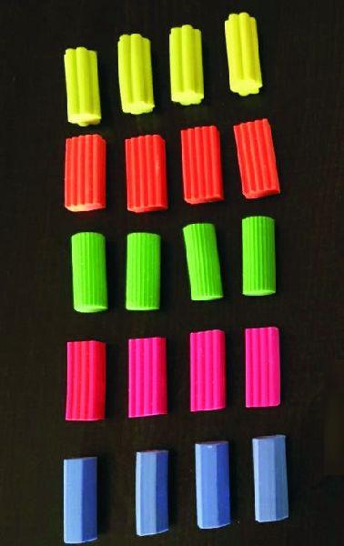 100 Pcs Jar Super Classic Color Geometrical Eraser