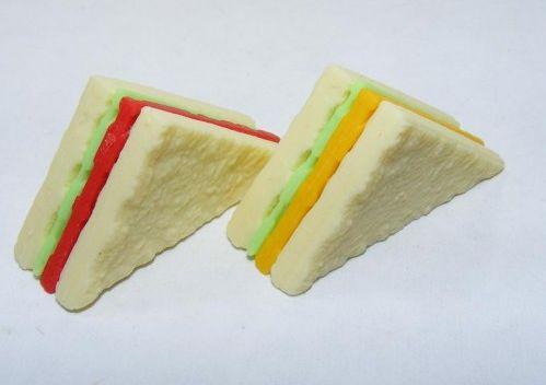 100 Pcs Jar Super Classic Color Sandwich Eraser