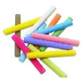 12 Super Classic Colored Chalk