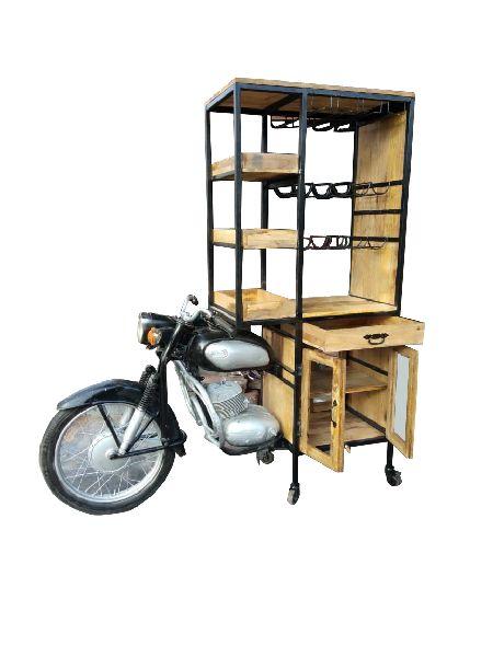 Mango Wood Moter Cycle  Bar Counter Table