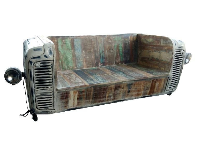 Reclaimed Wood Tractor Sofa