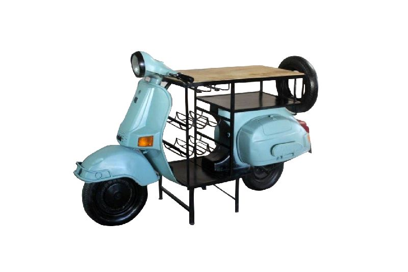 Mango Wood Scooter Bar Table