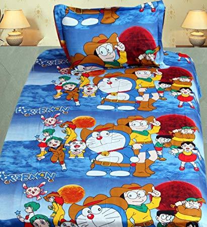 Cartoon Printed Single Bed Sheets