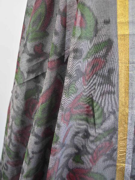 Grey Printed Fabric