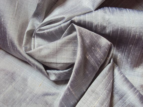 Grey Raw Silk Fabric