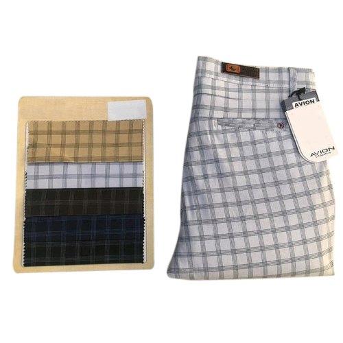 Mens Checkered Trouser
