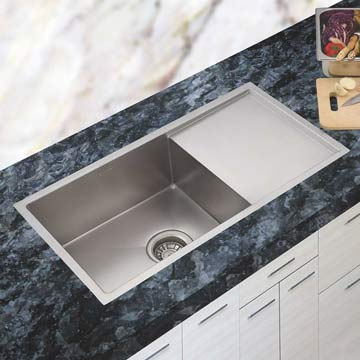 Stainless Steel Single Bowl Sink With Drainboard