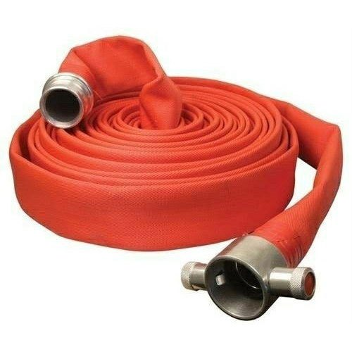 Canvas Red Fire Hose Pipe