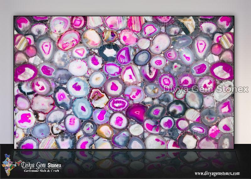 Brazilian Pink Agate Slab