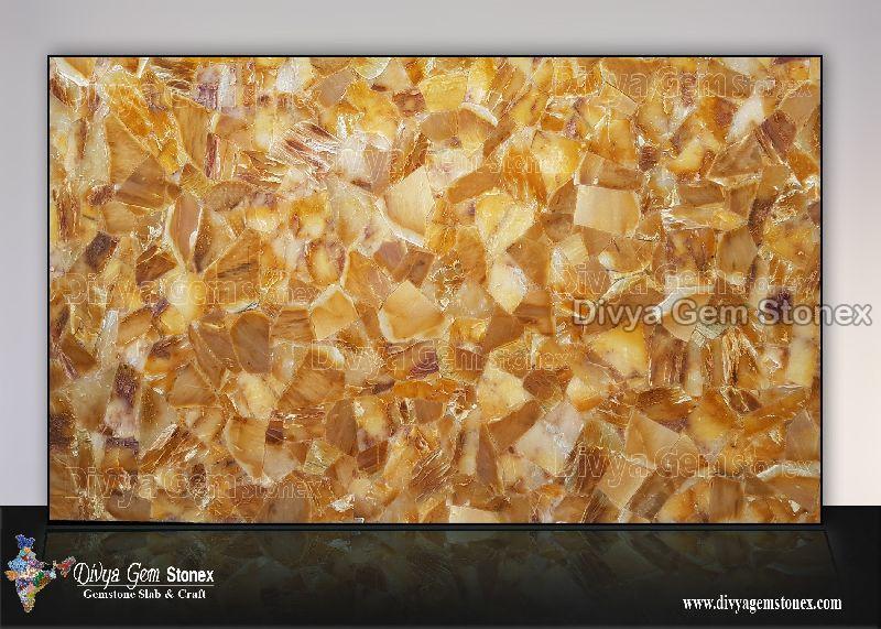 Golden Quartz Slab
