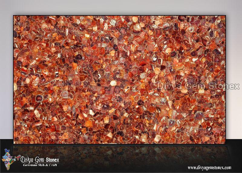 Red Chalcedony Slab