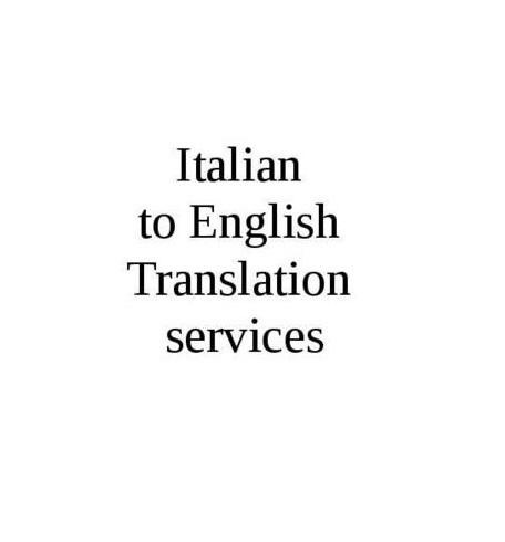 Italiain to English Language Translation