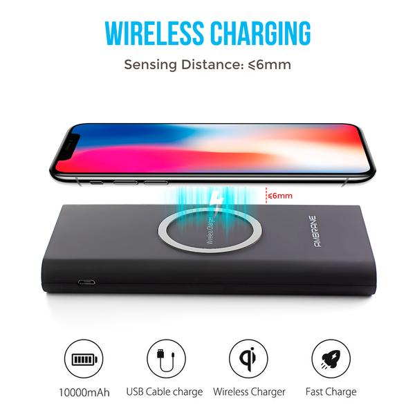 PW-20 10000mAh Wireless Powerbank