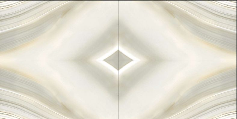 Shell White Glossy Book Match Series Ceramic Tiles
