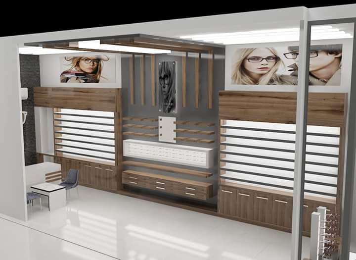 Optical Showroom Interior Designing Services