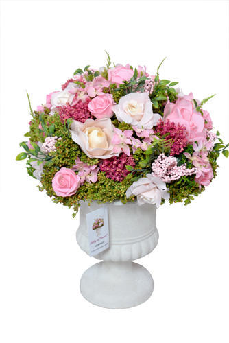 Artificial Rose Flower with Pot