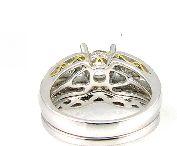 0.67 Ct Diamond & 18KT White Gold Semi Mount Ring