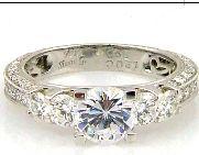 1.00 Carat Diamond & 18KT White Gold Semi Mount Ring