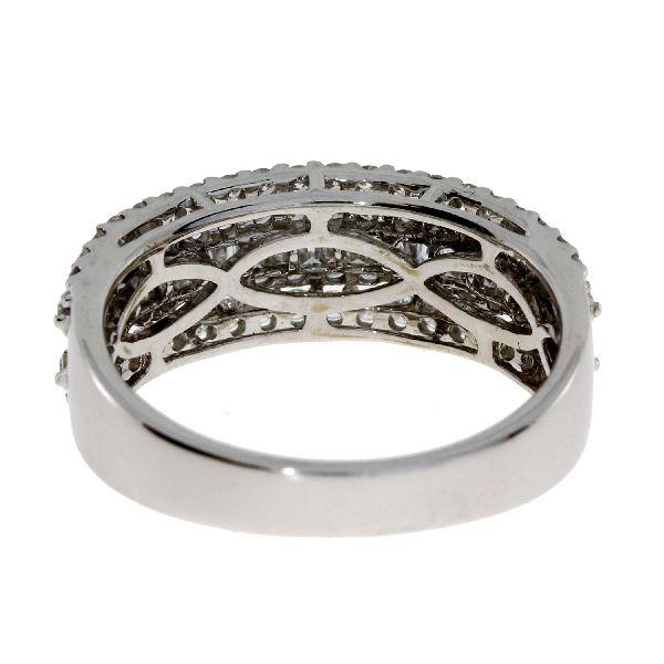 1.20 Ct Diamond & 18KT White Gold Ladies Ring