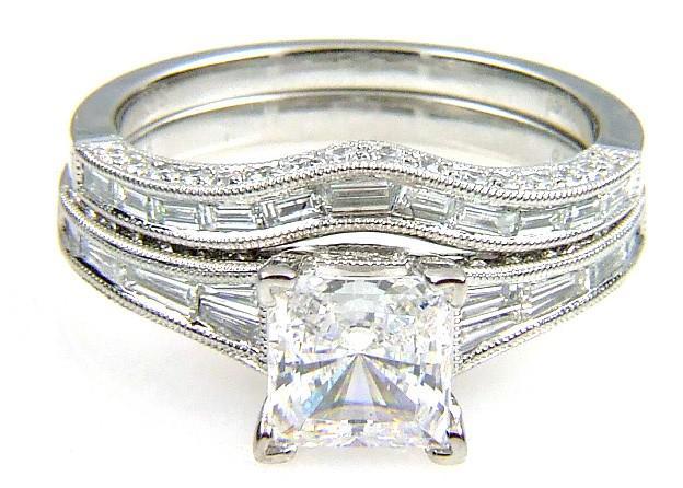 .91Ct Diamond & 18KT White Gold Semi Mount Ring