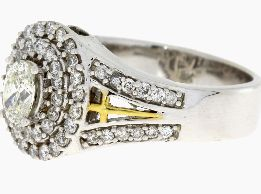 .99 Ct Diamond & 18KT 2 Tone Gold Ring