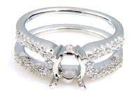 0.33 Ct. Diamond & 18KT White Gold Semi Mount Ring