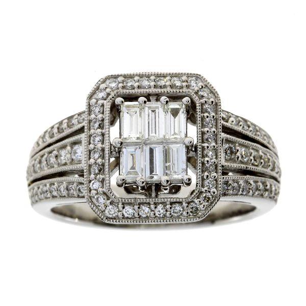 .75 Ct Diamond & 18KT White Gold  Ring