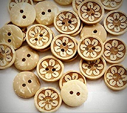 Coconut Shell Printed Buttons