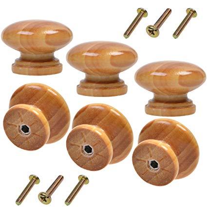 Round Wooden Knobs