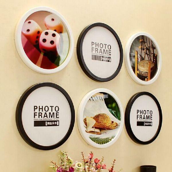 Round Wooden Photo Frames