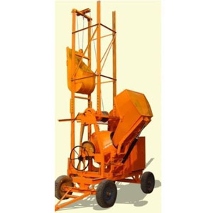 Concrete Mixer Machine With Hydraulic Hopper & Lift