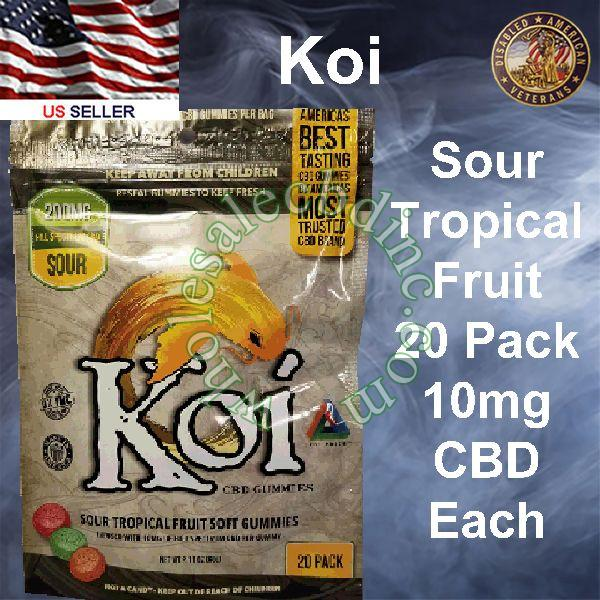 KOI CBD Sour Tropical Fruit 20 Pack 10mg