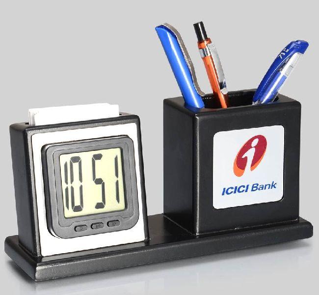 Digital Clock Pen Stand