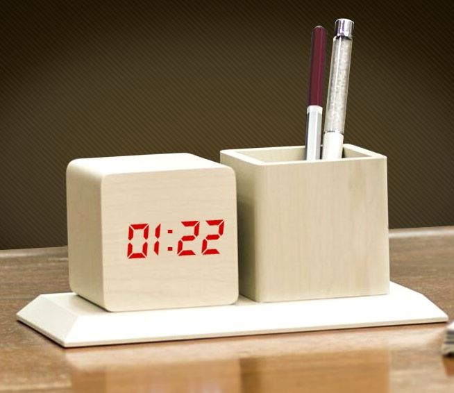 Table Top with Clock