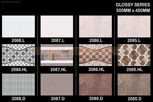 "12""x18"" Digital Glossy Wall Tiles"