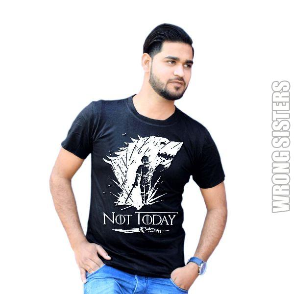 Not Today Printed Half Sleeve T-Shirt